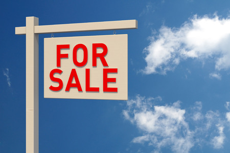 digitally generated image: For Sale Sign  Digitally Generated Image  3D Rendering