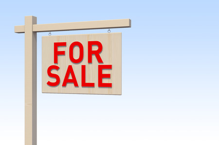 space for images: For Sale Sign  Digitally Generated Image  3D Rendering