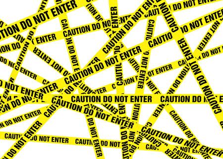 crime scene do not cross: Caution Cordon Tape