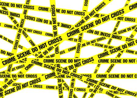 crime scene do not cross: A sea of yellow Crime Scene Do Not Cross tape.