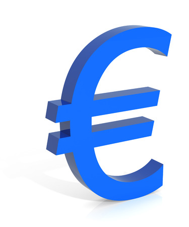 digitally generated image: European Union Currency. Digitally Generated 3D Image.