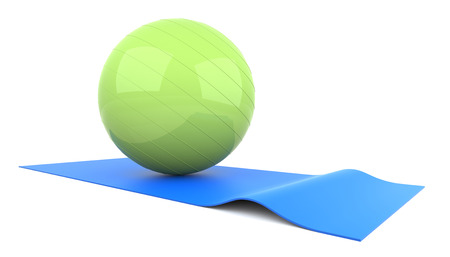3d ball: 3D Fitness Ball. Digitally Generated Image. 3D Rendering.