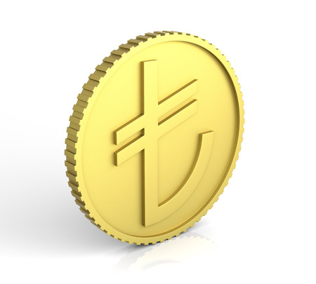 turkish lira: New Turkish Lira Symbol. 3D rendering.