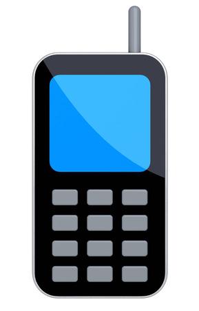 digitally generated image: Generic Mobile Phone. Isolated Digitally Generated Image.