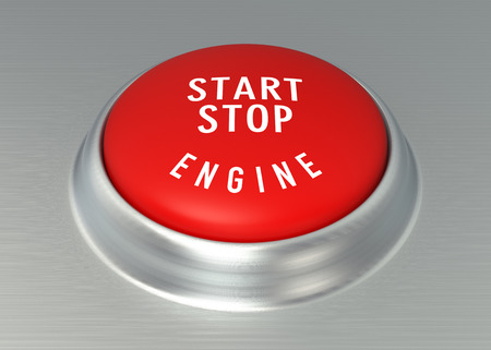 ��digitally generated image�: Detail of car start - stop button. Digitally Generated Image