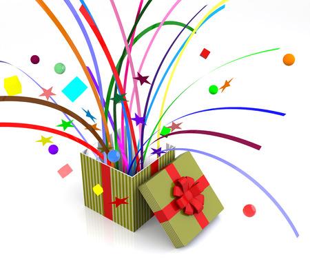 suprise: Gift box pops, suitable for suprise element.