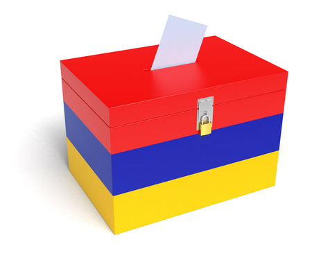 armenian: Armenian Flag Ballot Box.