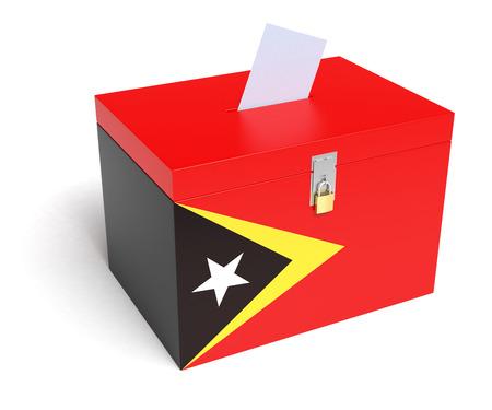 east: East Timor Flag Ballot Box.  Stock Photo