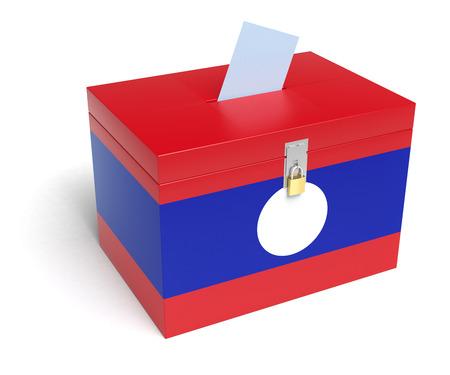 lao: Lao Flag Ballot Box.