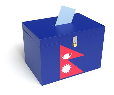 nepali: Nepali Flag Ballot Box.
