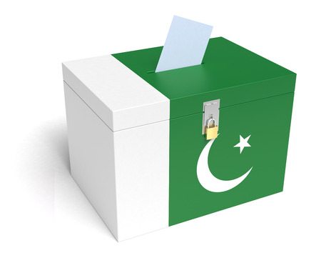 Pakistani Flag Ballot Box.  photo