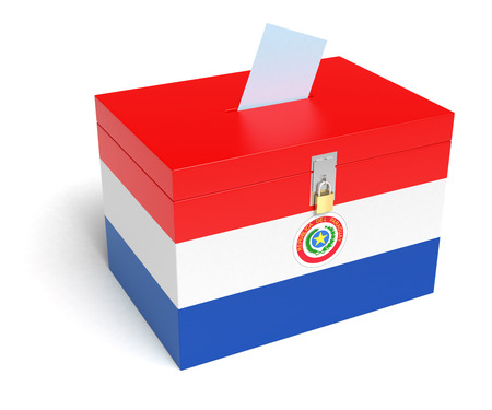 bandera de paraguay: Urna Bandera Paraguay.