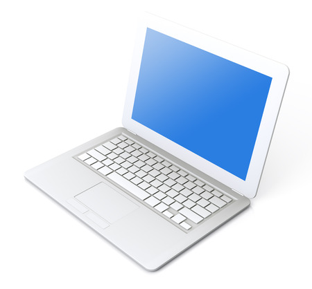 A very high resolution Simple Laptop 3D rendering image Imagens