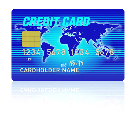 high detail: High detail illustration of multi colored credit card. Stock Photo