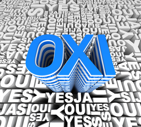 said: Greece said OXI. 3D Isolated Rendering