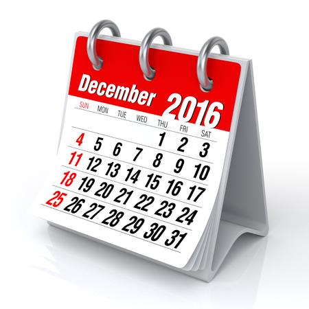 december: December 2016 - Desktop Spiral Calendar