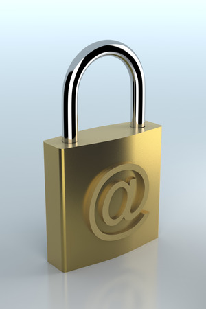 security symbol: E-mail symbol with lock. Internet security concept.