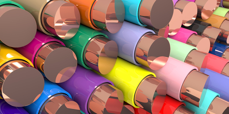 illustration industry: Multicolored Wires Background. 3D rendering.