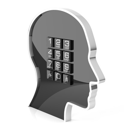 telecommunications equipment: Telephone Support. Isolated On White, 3D rendering Stock Photo