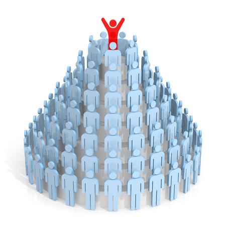 piramide humana: Trabajo en equipo. Pir�mide humana. Rendering 3D. Fondo blanco aislado. Foto de archivo