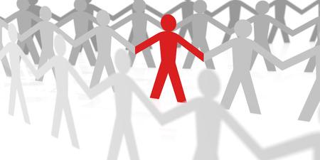 stick figure: Paper Team Leader