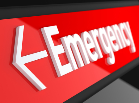 Emergency Sign Stock Photo - 47900935