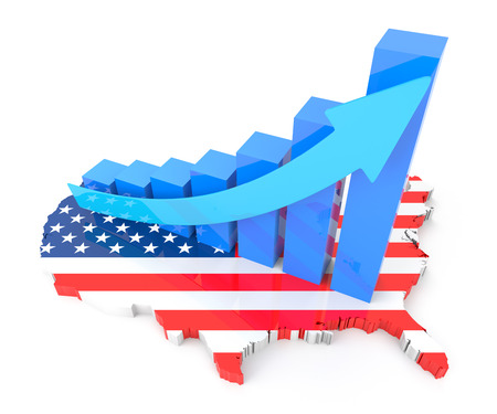 estadisticas: Carta de crecimiento de EE.UU. Foto de archivo