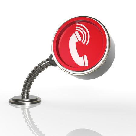 directorio telefonico: Futurista Concepto bot�n del tel�fono. Icono de representaci�n 3D ...