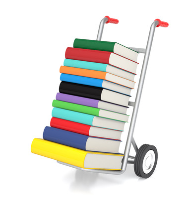 hand truck: 3D rendering of a hand truck with Color Books