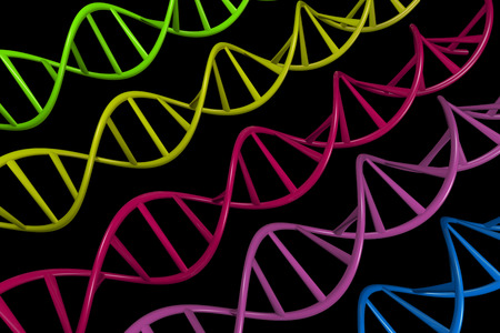 nucleic: DNA magnified. 3D Rendering Stock Photo