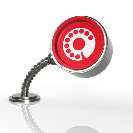 directorio telefonico: Futurista Concepto botón del teléfono. Icono de representación 3D ...