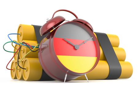 time bomb: Time Bomb with German Flag. 3D Rendering