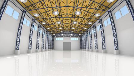 szerkezet: Abstract üres, fehér raktár belső
