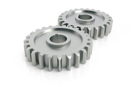 metal gears: Metal gears abstract 3d design, teamwork concept.