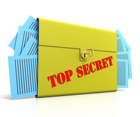 brief case: Top Secret Brief Case with gold key