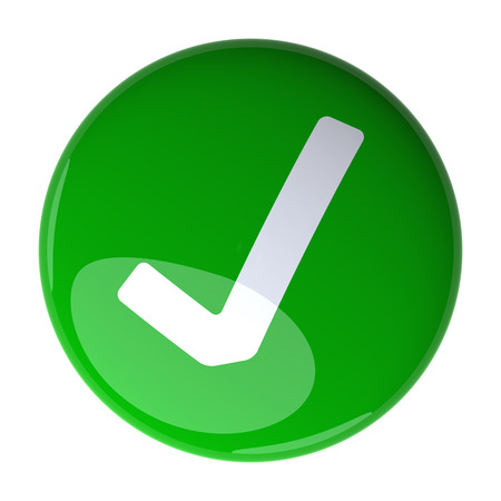 green check mark: Green Check Mark Button. Digitally generated 3d image.