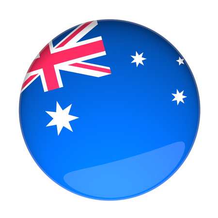 lapel: 3D Rendering of a Badge with the Australian Flag