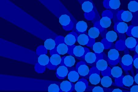 volumetric: Abstract Blue Bokeh and Volumetric Light Background Stock Photo