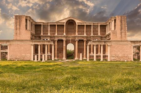 The Gymnasium of Sardes Ancient City. Manisa - Turkey