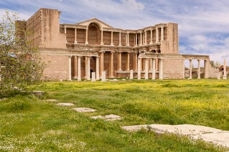 sard: The Gymnasium of Sardes Ancient City. Manisa - Turkey