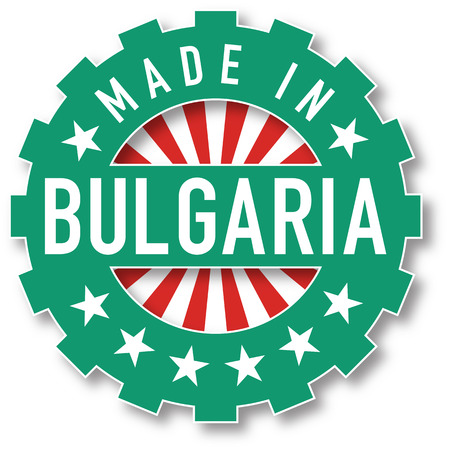 Made in Bulgaria flag color stamp. Vector illustration