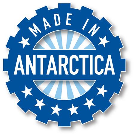 antarctica: Made in Antarctica flag color stamp. Vector illustration