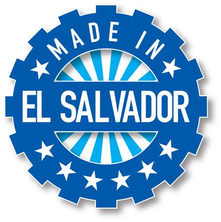 bandera de el salvador: Made in El Salvador flag color stamp. Vector illustration
