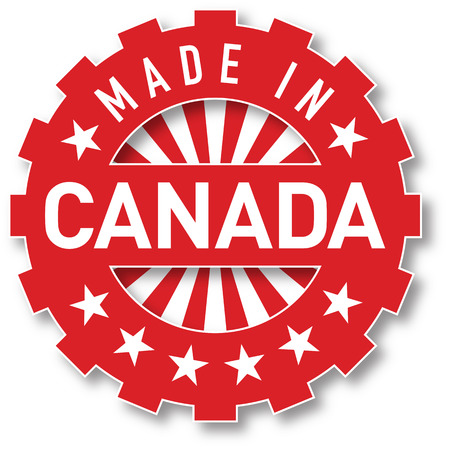 Made in Canada flag color stamp. Vector illustration Illustration
