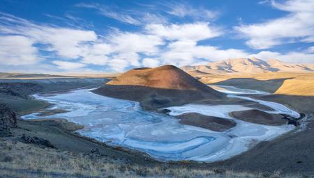 Meke Crater Lake in Konya - Turkije Stockfoto