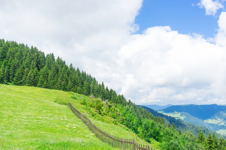 Summer Mountain Plateau Highland with Giresun - Turkey - Black Sea Stock Photo