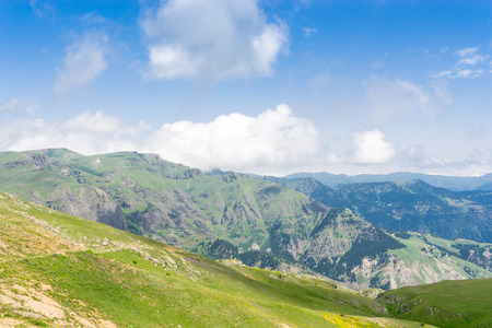 foggy hill: Summer Mountain Plateau Highland with Artvin, Turkey