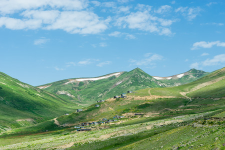 Summer Mountain Plateau Lekoban Highland with Artvin, Turkey