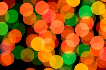 Abstract Circular Bokeh Background of Christmaslight Stock Photo