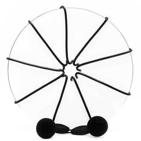 Disc and earphones photo